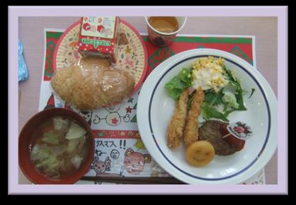 「クリスマス特別メニュー」食事提供・セルプさっぽろ